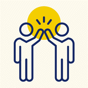 feedback and collaboration icon